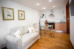 Servizio fotografico casa vacanze, Mini appartamento, Salotto con angolo cottura